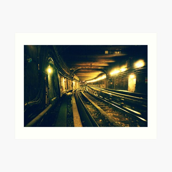 Abbesses Metro tunnel Art Print