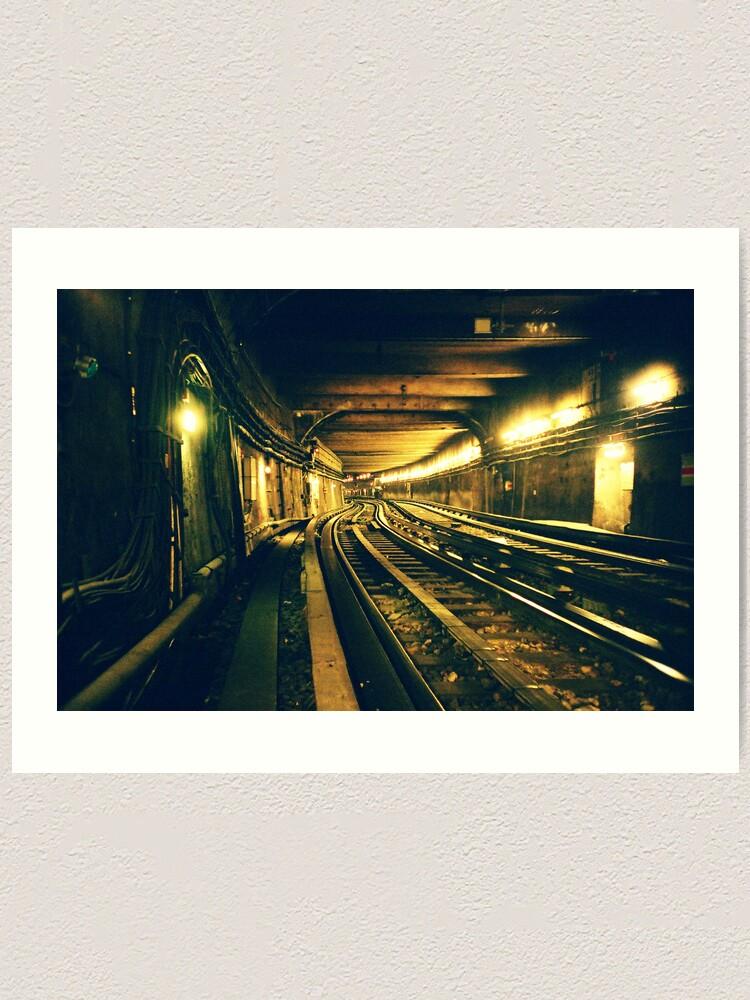 Alternate view of Abbesses Metro tunnel Art Print