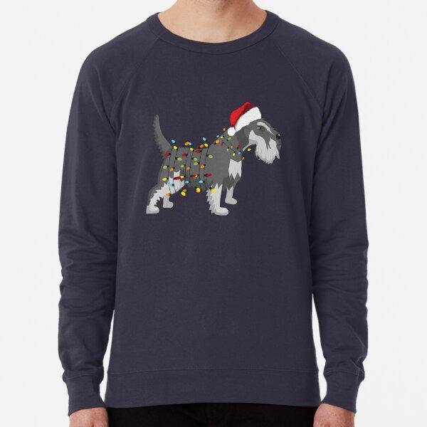 Schnauzer Holiday Christmas Light Lightweight Sweatshirt