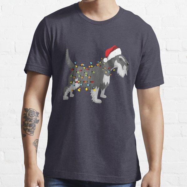 Schnauzer Holiday Christmas Light Essential T-Shirt