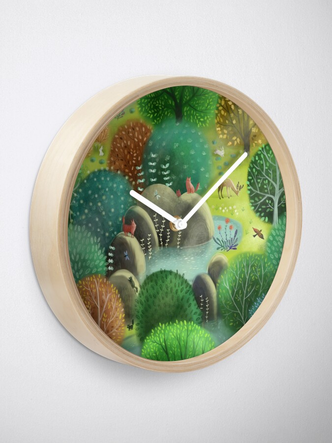 Alternate view of Emerald forest Clock