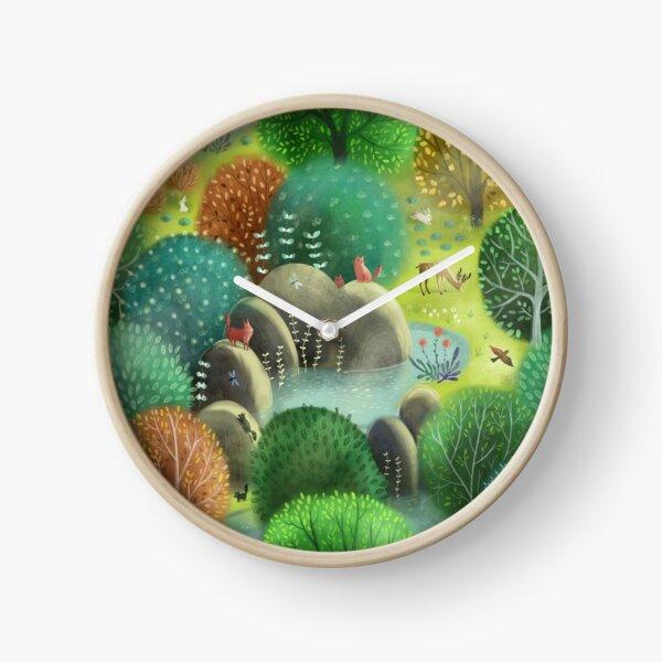 Emerald forest Clock