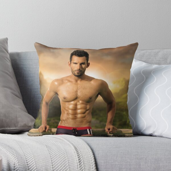 Hunky Kevin Throw Pillow