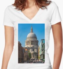 St Paul's Cathedral Women's Fitted V-Neck T-Shirt