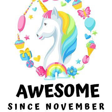 Awesome unicorn since november 2010 dabbing unicorn for eight 8th birthday gift by chardo55