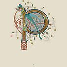 Celtic Initial P  by Thoth Adan