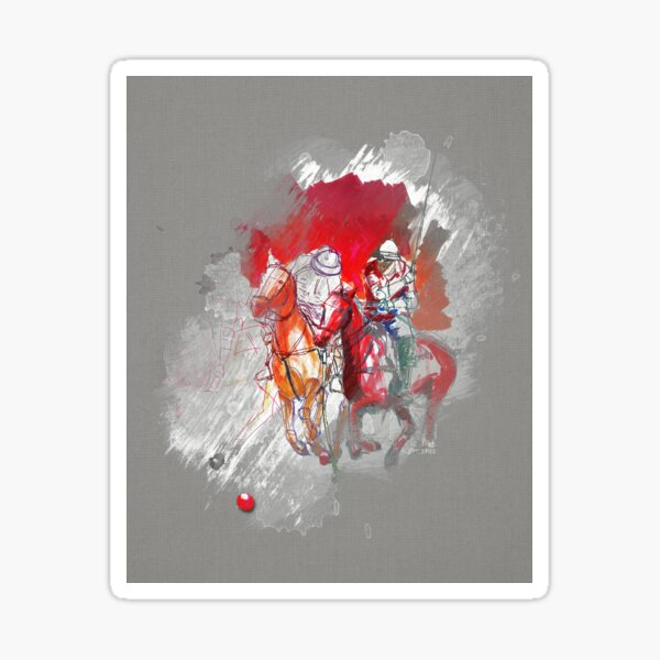poloplayer gray abstract Sticker