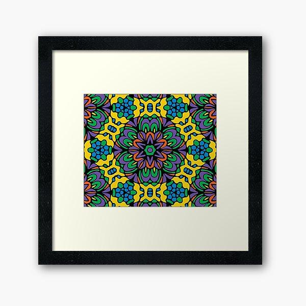 Bright Bold Retro Flower Framed Art Print