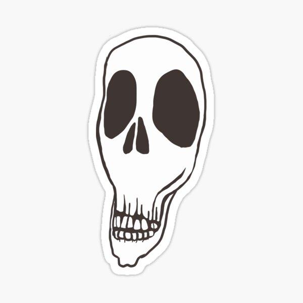 Dead Inside Skull Sticker