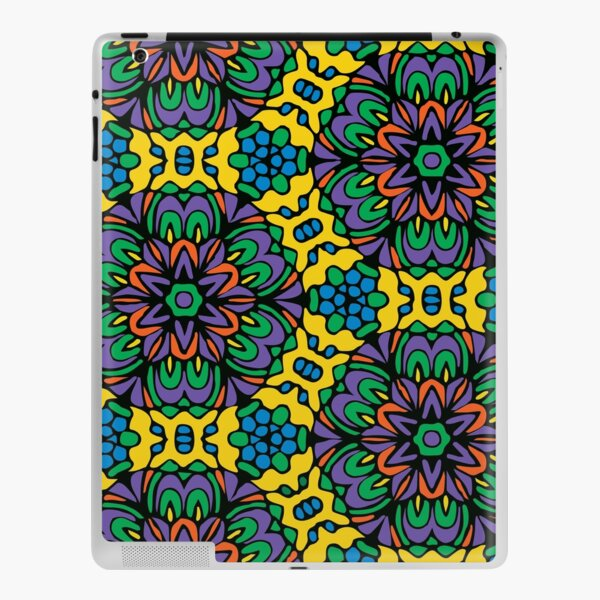 Bright Bold Retro Floral Garden iPad Skin