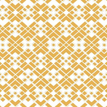 Abstract geometric pattern - bronze and white. by kerens