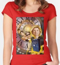 Dr Who Women's Fitted Scoop T-Shirt