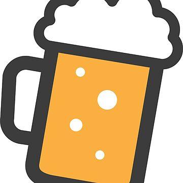 Pegatina de cerveza de Mhea