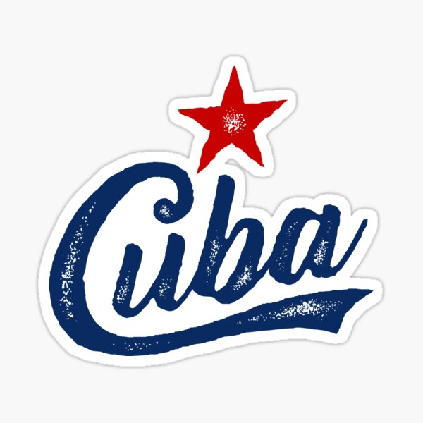 CUBA HANDWRITTEN STAMPED, BY SUBGIRL Sticker