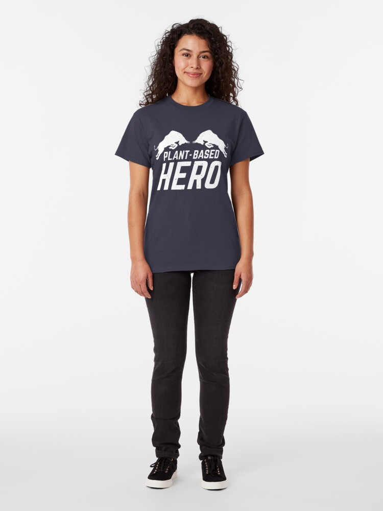Alternate view of plant-based hero Classic T-Shirt