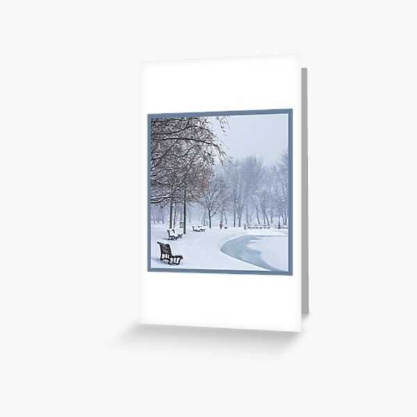 The Calm in the Heart of the Storm by Mireille Cyr Greeting Card