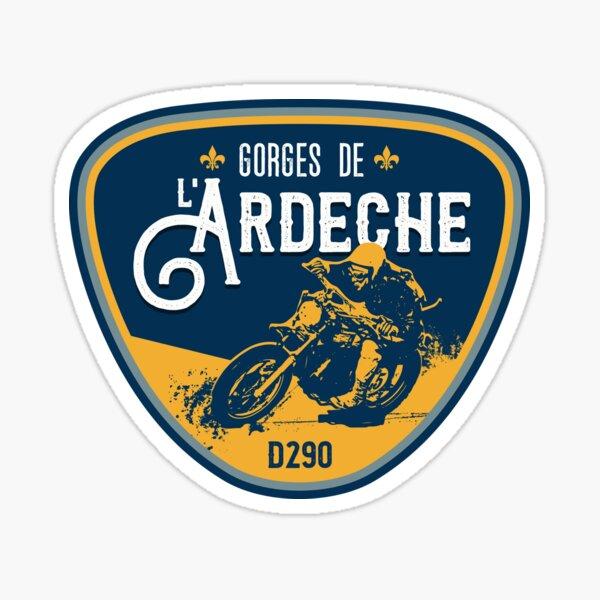 Gorges de Ardeche France Motorcycle T-Shirt + Sticker Sticker