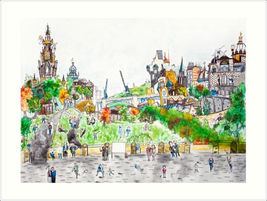 Edinburgh, Scotland. Urban Tableau 8/8 by Urban-Tableau