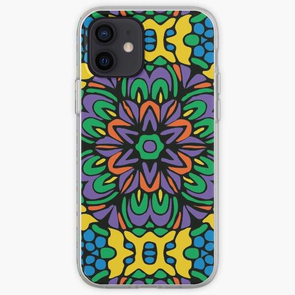 Bright Bold Retro Flower iPhone Soft Case