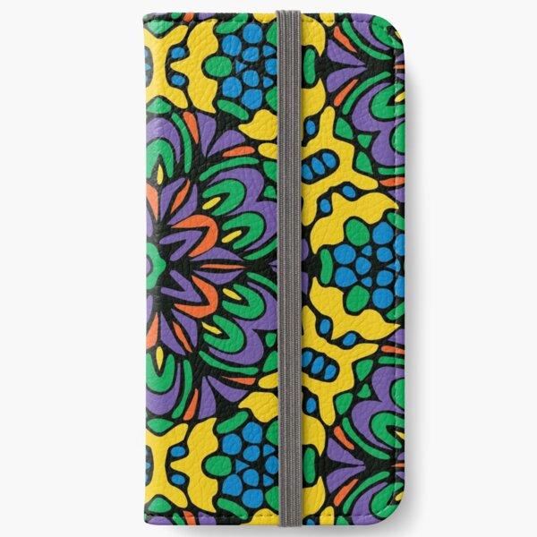 Bright Bold Retro Flower iPhone Wallet