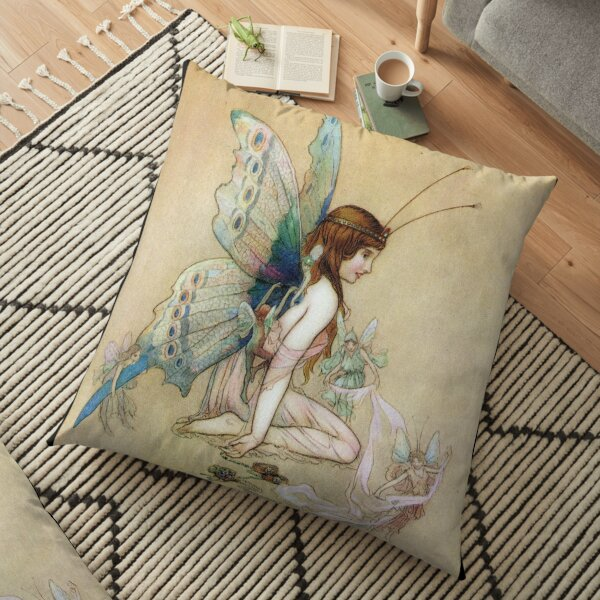 Ellie Gets Her Wings - Warwick Goble Floor Pillow