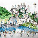 Salzburg, Austria. Urban Tableau 3/8 by Urban-Tableau