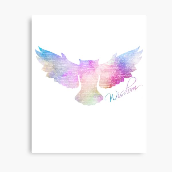 Owl Watercolor Style Owlss Water Color Art Vintage Colorful Cute Animal Bir Canvas Print