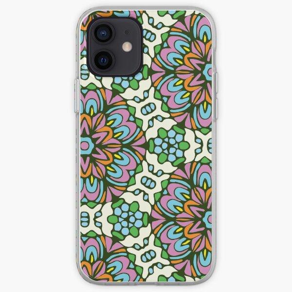 Ice Queen Retro Floral Garden iPhone Soft Case