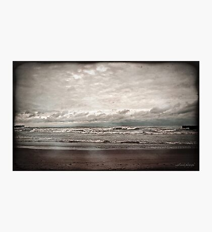 a dark day at the beach Photographic Print