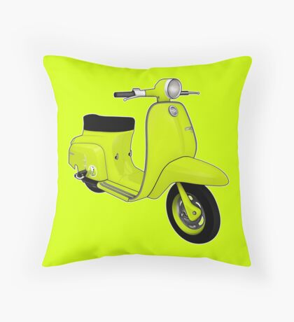 Scooter T-shirts Art: J50 Deluxe Scooter Design Throw Pillow