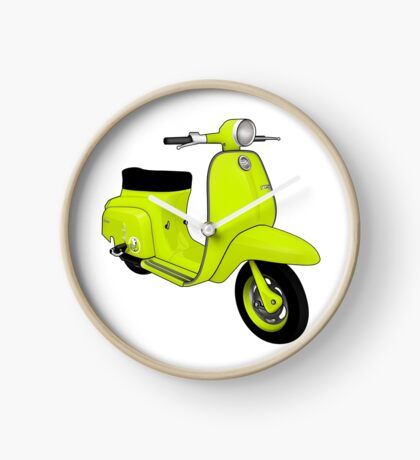 Scooter T-shirts Art: J50 Deluxe Scooter Design Clock