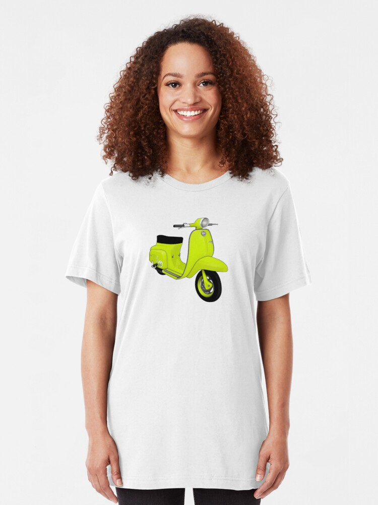 Alternate view of Scooter T-shirts Art: J50 Deluxe Scooter Design Slim Fit T-Shirt