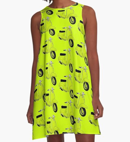 Scooter T-shirts Art: J50 Deluxe Scooter Design A-Line Dress