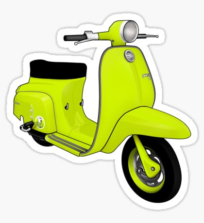 Scooter T-shirts Art: J50 Deluxe Scooter Design Sticker
