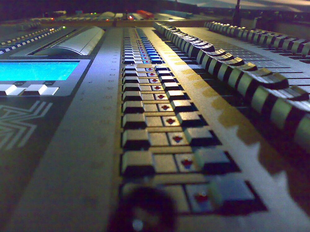 At the consoles. by Kedlestone