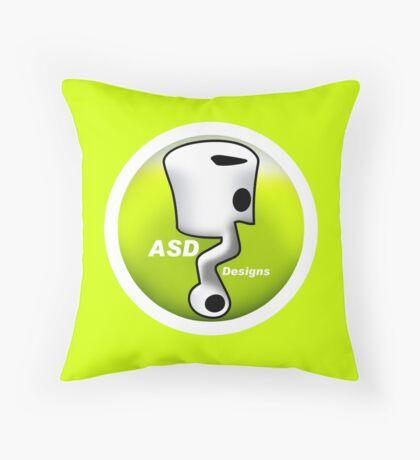 ASD Lime color Throw Pillow