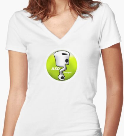 ASD Lime color Women's Fitted V-Neck T-Shirt
