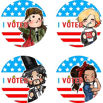 The 100 I Voted Sticker pack by NonsuchTheFirst
