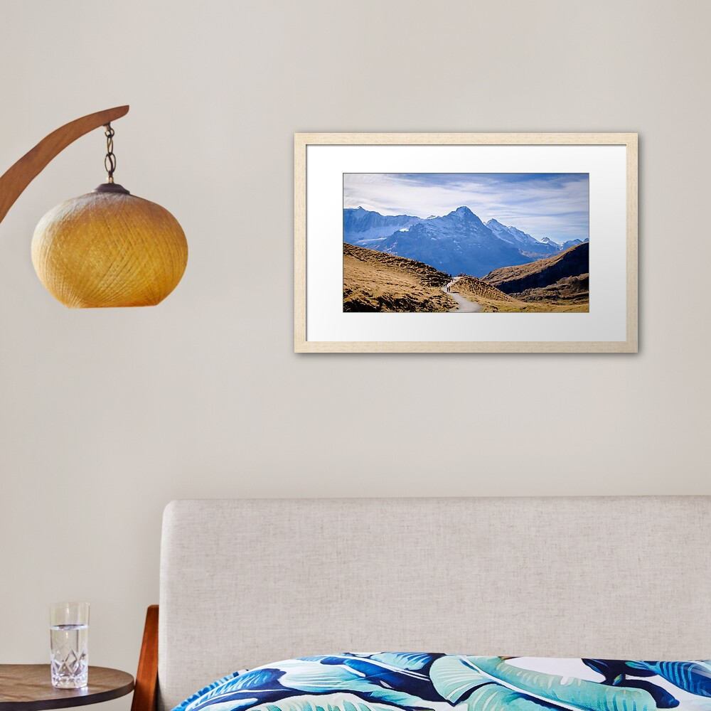 Eiger, photographed from Grindelwald First Framed Art Print