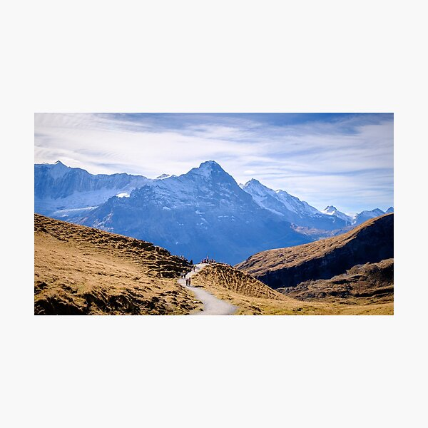 Eiger, photographed from Grindelwald First Photographic Print