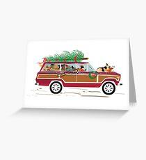 Christmas Dogs Coddiwompling Greeting Card
