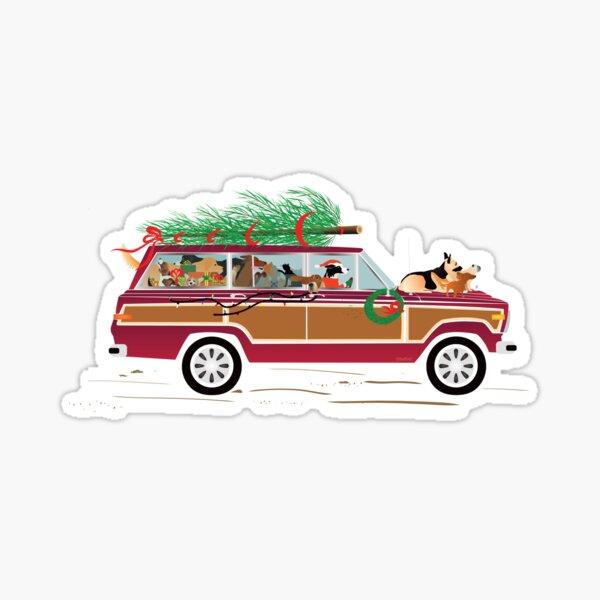 Christmas Dogs Coddiwompling Sticker
