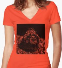 Who's the fairest of them all... Women's Fitted V-Neck T-Shirt