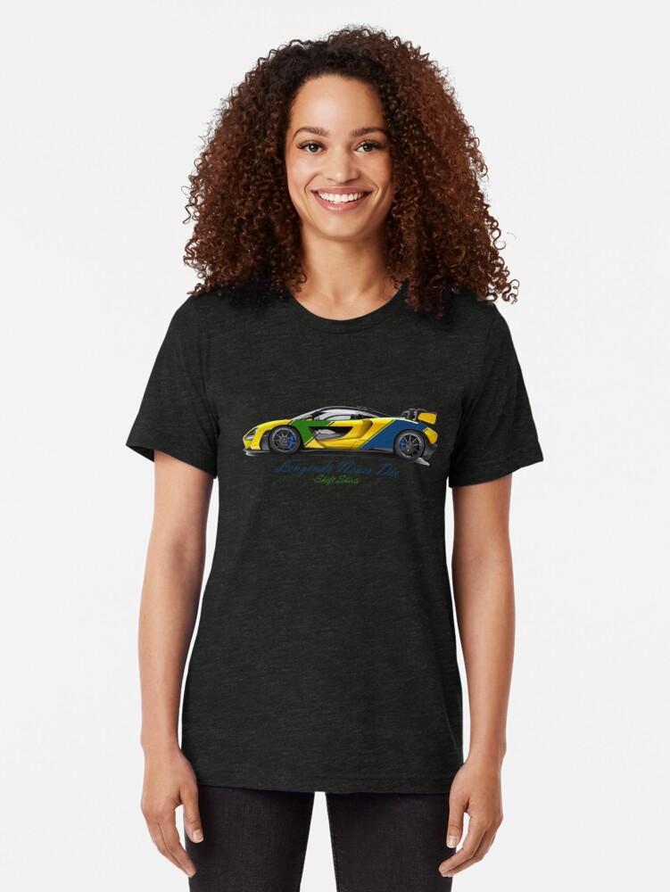 Alternate view of McSenna - Senna Inspired Tri-blend T-Shirt