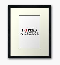 Fred & amp; George Framed Print