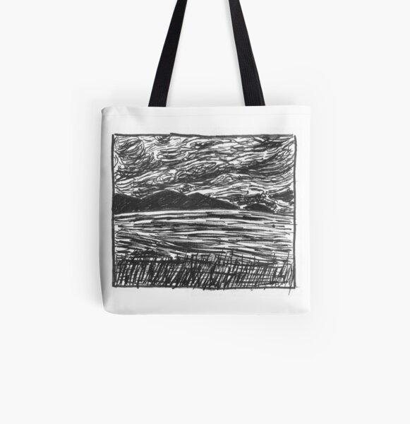 Thunder (Inktober 2018 #27) All Over Print Tote Bag