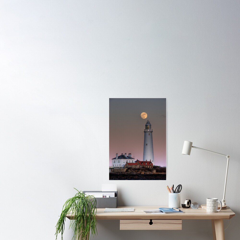 St Mary's moon Poster