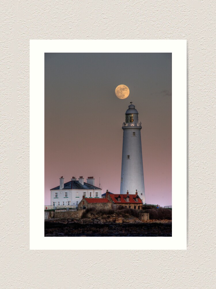 Alternate view of St Mary's moon Art Print