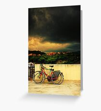 Under an ominous sky Greeting Card