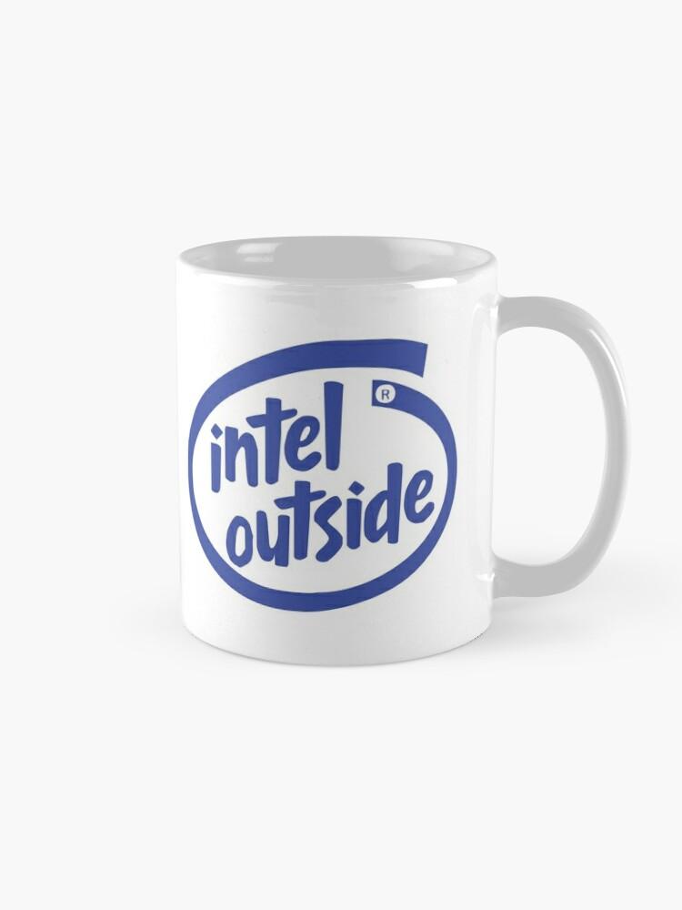 Alternate view of Freaky Logo - Intel Outside Mug